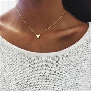 Gold star necklace